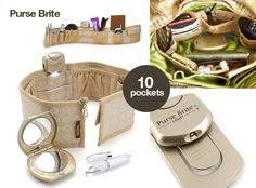 Purse Brite Organizer. Also Great for Gym, Diaper and Beach Bags