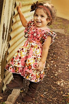 Back to School dress, Ruffle dress, Pinny Dress, Fall dress, brown, pink, Boutique dress, floral, Summer dress, Clothing, Girl, baby on Etsy, $38.00