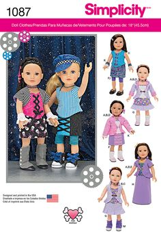 """Simplicity Creative Group - 18"""" Doll Clothes"""