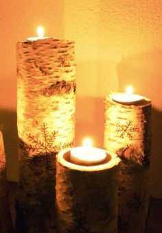 Birch DIY Birch, Candle Holders, Sweet Home, Candles, Diy, House, Ideas, Do It Yourself, House Beautiful