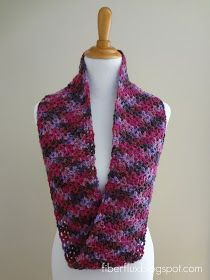Like a luscious scoop of berry gelato, this soft and decadent infinity scarf is all you need to be fabulously cozy. Crocheted in a worst...