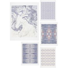 Deny Designs French Linen Gallery Wall Art Set ($99) ❤ liked on Polyvore featuring home, home decor, wall art, blue, blue home decor, blue wall art, inspirational wall art, deny designs home accessories and deny designs