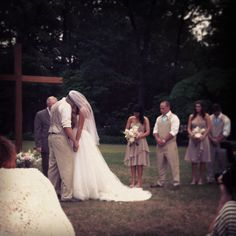 Outside wedding - prayers before the i-dos