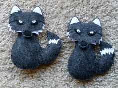 Felt Wolf ornaments