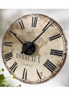 reloj pared ladrillo maisons du monde relojes. Black Bedroom Furniture Sets. Home Design Ideas