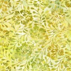 FLORA CANTIK BATIKS LIME OLIVE WILDFLOWERS