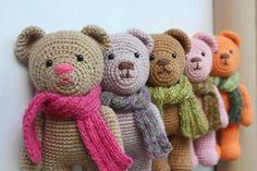 free teddy bear crochet patterns | Amigurumi creations by Laura: Teddy Bear is now 110 years old!