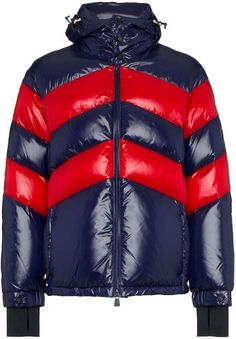 Check out Moncler Grenoble with over 3 items in stock. Shop Moncler Grenoble striped padded hooded jacket today with fast Australia delivery and free returns. Cool Jackets, Winter Jackets, Padded Jacket, Leather Jacket, Outdoor Wear, Quilted Jacket, High Collar, Puffer Jackets, Moncler