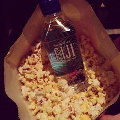 #popcorn #fijiwater