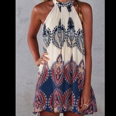 Pattern Dress NWTs! this dress if a perfect fitting dress that is a lose fit! NO TRADES NOT FREE PEOPLE Free People Dresses
