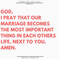A great tool for any marriage is prayer. We all need Jesus and so do our marriages. Here are 30 prayers for a strong marriage, right in the post, to help you with your marriage at any stage. Prayer For My Marriage, Relationship Prayer, Marriage Help, Strong Marriage, Marriage Life, Marriage And Family, Couples Prayer, Godly Marriage, Faith Prayer