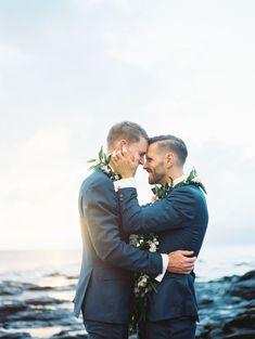 Their joy is contagious: http://www.stylemepretty.com/2015/09/02/romantic-lahaina-beach-wedding/   Photography: Wendy Laurel - http://www.wendylaurel.com/