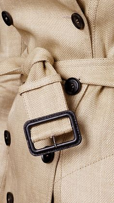 Burberry Prorsum woven raffia trench coat (detail)