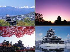 Matsumoto castle, Nagano, Japan spring, summer, autumn and winter