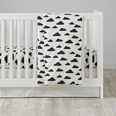 Sure, our With a Chance of Crib Bedding doesn't come with a pair of rain boots or umbrella, but it does feature a cluster of charming clouds illustrated by artist Ashley Goldberg. And since it's made from 100% cotton, the forecast calls for a 100% chance of your kids being cozy through the night.