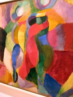 Sonia Delaunay.  Detail of Le Bal Bullier, 1913.