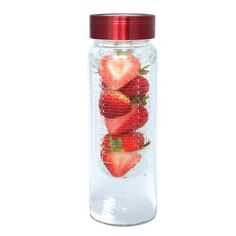 ) Water Bottle with Fruit Infuser 16 Oz Water Bottle, Infused Water Bottle, Voss Bottle, Fruit Infuser Bottle, Promo Gifts, Safe Glass, Glass Bottles, Water Bottles, Corporate Gifts