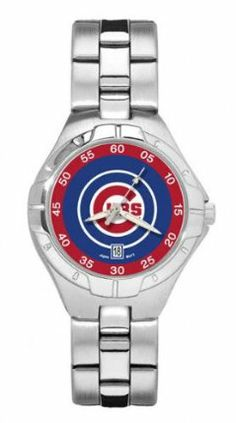 Chicago Cubs Pro II Woman's Bracelet Watch by LogoArt by Logo Art. $49.95. Two-year limited warranty.. Powered by a precision Miyota three hand quartz movement with date function.. Water resistant.. Packaged in an attractive black tin with flocked insert.. Show your Chicago Cubs loyalty by wearing the sporty Pro II watch by LogoArt®. The Pro II features the Chicago Cubs logo prominently centered on the colorful dial with coordinating dial ring.