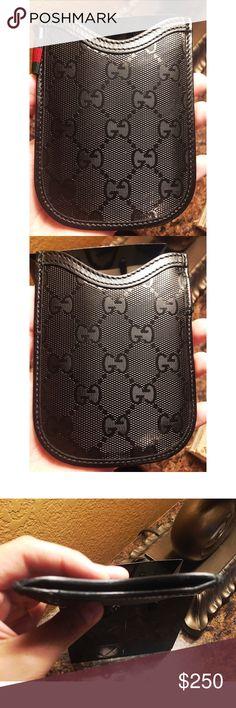 Gucci card/ money holder 🖤✨ Gucci black leather print card and money holder🖤 Gucci Bags Wallets