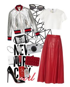"""Untitled #216"" by fradoria ❤ liked on Polyvore featuring Gucci, Neil Barrett, Christian Louboutin, Kate Spade, Carianne Moore, Valentino, Larsson & Jennings, Maison Margiela, Cartier and Calvin Klein"