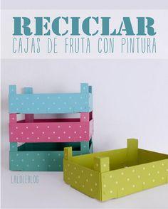 la decoración de mis mesas: 2 Formas de reciclar cajas de fresas.