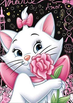 You too can be an artist when you paint with Diamonds! Every kit gives you a chance to create a work of art you can be proud of. This diamond painting kit The Aristocats, Marie Cat, Step By Step Painting, Painting Steps, Bear Cartoon, Diamond Art, Crystal Diamond, 5d Diamond Painting, Drawing Skills
