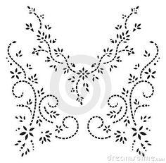 Forma do projeto do henna de Kashmir