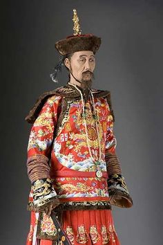 Portrait length color image of Kang Hsi Emperor aka. Kangxi Emperor, by George Stuart.