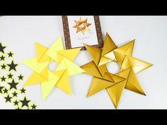 Weihnachtsstern faltenWunderschöne Origami Deko aus 8 Teilen   Einfach & schnell   Adventideen - YouTube