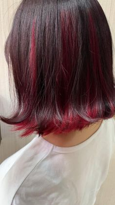 Hair Color Streaks, Hair Color Purple, Green Hair, Hair Highlights, Red Hair Inspo, Hidden Hair Color, Hair Color Underneath, Aesthetic Hair, Grunge Hair