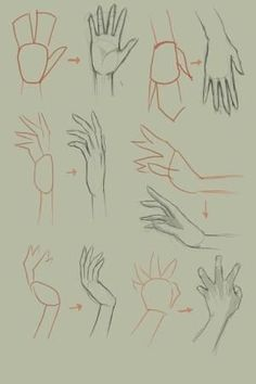 Discover the Internets Amazing Online Drawing Lessons Resource for all your drawing tutorial needs. Step by step instructions on drawing. Drawing Tutorial Hands, Hand Drawing Reference, Basic Drawing, Body Drawing, Anatomy Drawing, Hands Tutorial, Pose Reference, Basics Of Drawing, How To Draw Anatomy