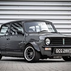 Image may contain: car and outdoor Mini Cooper Classic, Classic Mini, Classic Cars, Austin Mini, Jeep Bumpers, Mini Cooper Clubman, Mini Copper, Old School Cars, Modified Cars