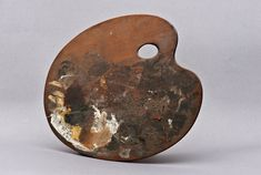 painter's palette from the estate of adolph von menzel, c. 1890 / stadtmuseum berlin, germany