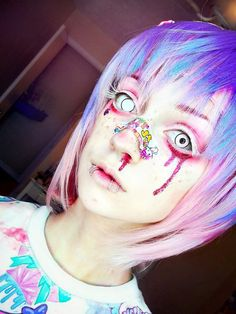 anime, art, cosplay, fashion, girls, hair ideas, halloween, kawaii, lenses, makeup, manga, masks, pastel goth, piercings, wig, makep ideas