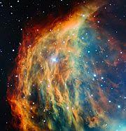Image de la Nébuleuse de la Méduse acquises par le Très Grand Télescope de l'ESO.