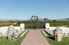 Outdoor Vineyard Weddings in Southern California at Villa de Amore in the Temecula Wine Region near both Orange County and San Diego County