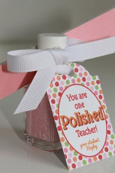 Nail Polish Teacher Gift Tag Personalized by MakingLifeWhimsical, $5.00