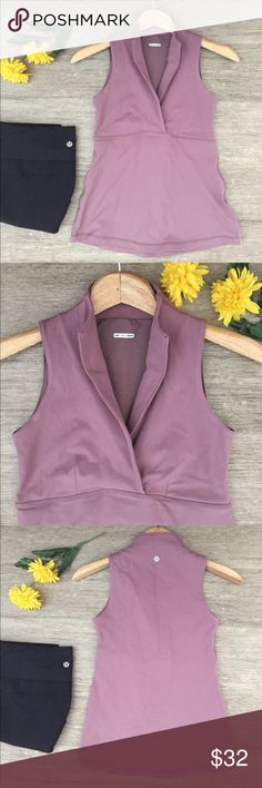 """Lululemon Sleeveless Fitted Tank 🌼 Lululemon sleeveless fitted tank.  Built in shelf bra for added support.  Stretchy material.  No size tag so check measurements.  Chest is 27"""" and length is 23"""".  In excellent condition. lululemon athletica Tops"""