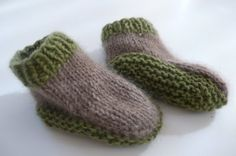 Knit - pure handmade for baby: cute little sock / moccasin pattern on purl bee