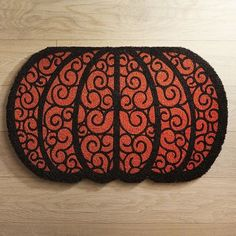 Scroll Pumpkin Doormat | Pier 1 Imports