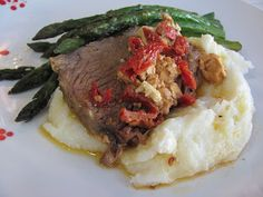 Running Upward: Crock Pot Tri Tip with Feta and Sun-Dried Tomatoes