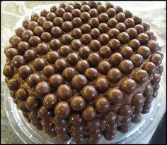 Malted Milk Ball Chocolate Cake