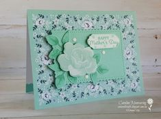 Our teams blog hop theme this month was Monochromatic. Here I've used elements from the FREE Sale-a-bration Kerchief Card Kit to create my card.