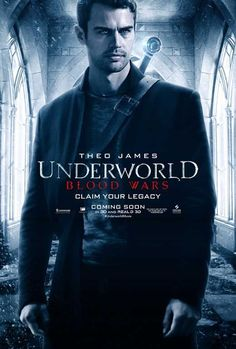 Screen Gems & Lakeshore Entertainment have debuted four icy cold new character posters for Underworld: Blood Wars, featuring Kate Beckinsale, Theo James, Charles Dance, & Tobias Menzies. Great Movies, New Movies, Movies Online, Movies And Tv Shows, Scary Movies, Horror Movies, Theo James, Theodore James, Bradley James