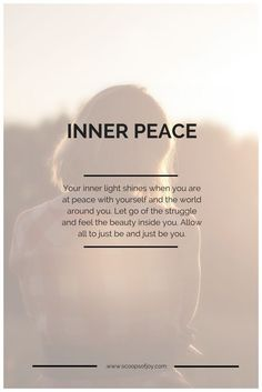 Wellness Wednesday The Girl Who Cried in Hot Yoga Class - Inner Peace ~ Your inner light shines when you are at Peace with yourself and the world around you - The Words, Quotes To Live By, Life Quotes, Peace Of Mind Quotes, Inner Peace Quotes, Quotes About Peace, Relax Quotes, Finding Peace Quotes, Class Quotes