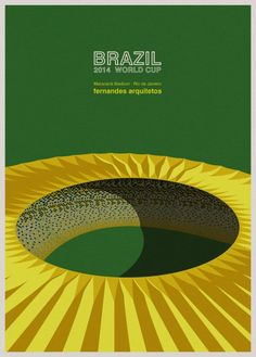 The World Cup Stadiums of Brazil, In Awesome Illustration by André Chiote
