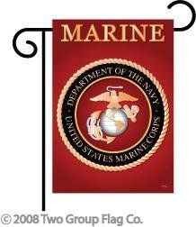 "Marine Corps Semper Fi Indoor/ Outdoor Sublimation Garden Flag 13"" X 18.5"" 58057 by Two Group Flag. $22.14"