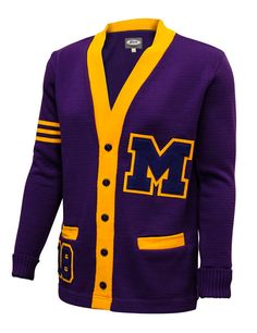 Neff's letterman sweaters allow students to proudly display their hard-earned chenille letters and patches while providing a light-weight alternative to a wool or softshell jacket. Letterman Sweaters, Softshell, Gifts For Dad, Dads, Stripes, School, Sleeves, Jackets, Stuff To Buy