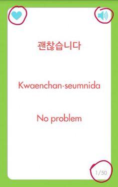 No problem Korean Phrases, Korean Quotes, Korean Words, Hangul Alphabet, Korean Alphabet, How To Speak Korean, Learn Korean, Learn Hangul, Korean Lessons