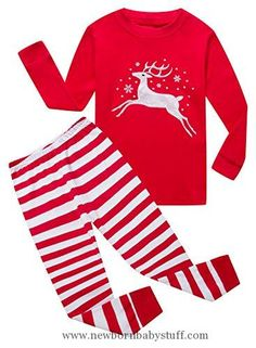 43a95658df Baby Girl Clothes Family Feeling Baby Girls Long Sleeve Christmas Pajamas  Sets 100% Cotton Pyjamas Toddler Infant Kids 12-18 Months Reindeer